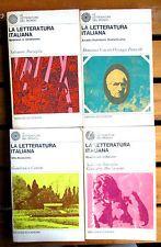 LA LETTERATURA ITALIANA opera completa in 4 volumi Sansoni Accademia 1971