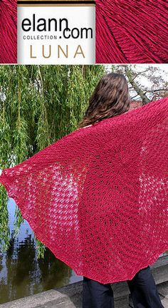 Bed of Roses Shawl free knit pattern