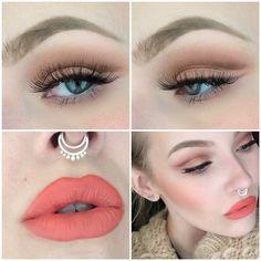 soft cut crease & bold lip