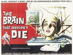 The Brain That Wouldn't Die | 1958 movie poster