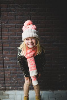 This little cutie showing off her fashionable winter accessories.. adorbs!