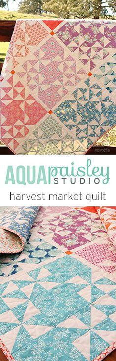 Harvest Market Quilt - a perfect way to showcase your favourite fat quarter fabrics :)