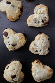Climbing Grier Mountain dark chocolate heart scones with chocolate ganache & toasted coconut - Climbing Grier Mountain