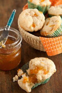 Peaches and Cream Muffins #pauladeen