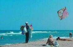 Spiaggia - venditore di aquiloni