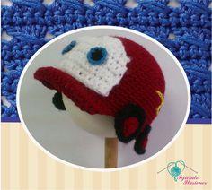 Modelo N° 18: Cars, gorrito del rayo mc queen  tejido a crochet