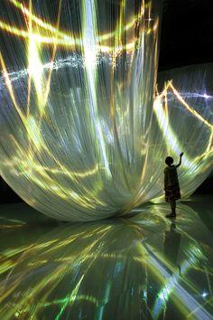 Nobuhiro Shimura Exhibition Space, Big Love, Light Art, Installation Art, Slytherin, Mint, Stage, Sculptures, Peppermint