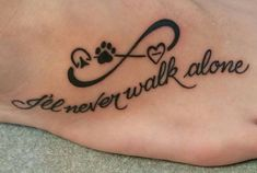 My First Tattoo! Horse hoof print, dog paw print and heart infinity