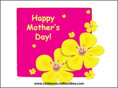 NEWEST DIY MOTHERS DAY  CARDS | ... and Crafts for Children: Card ideas for young children for mothers day