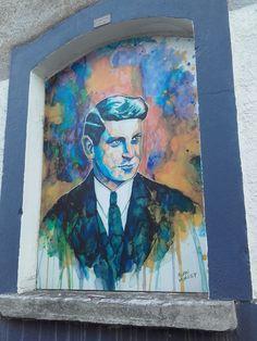 A graffiti portrait of Collins in downtown Cork