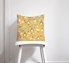 The yellow camping cushion is perfect for an outdoors inspired nursery or for any camping lover. The cushion has a yellow fabric with tents, mountains, trees and other camping gear. This yellow cushion adds the finishing touches to your home decor and can brighten up a living room. Available in either 45cm or 60cm. Yellow Cushions, Yellow Fabric, Blue Lamp Shade, Contemporary Cushions, Holidays In Cornwall, Adventure Nursery, Handmade Home Decor, Online Gifts, Inspirational Gifts