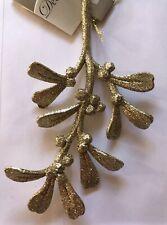 Authentic original item by Decoris Beautiful glittered mistletoe Mistletoe, Vintage Christmas, Place Card Holders, Dreams, Gold, Beautiful, Ebay, Design, Decor