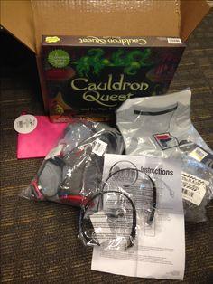 Woot May 2016 BOC - Cauldron Quest game, Fila grey compression top size M, Satin Nickel-Flush hinges (10 pack), GoJo Hands Free headset (2 pack), Ultraspire pocket water bottle, pink zipper bag