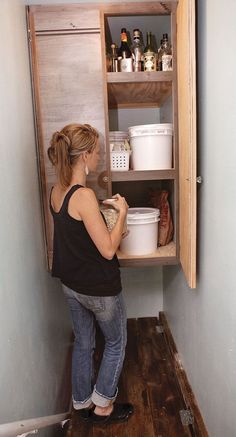 The DIY Life The MOTHER EARTH NEWS 2014 Homesteaders of the Year have taken self-reliance into their own hands, and you too, can practice more self-sufficient living. Stairway Storage, Basement Stairway, Basement Steps, Basement Storage, Basement Remodeling, Basement Finishing, Basement Paint Colors, Stairways, Storage Spaces
