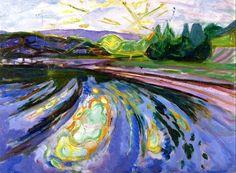 Waves against the Shore, Edvard Munch - 1911-1912