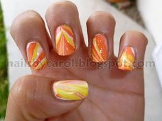 DIY halloween nails: DIY Halloween nail art : Halloween Nail Art Challenge: Candy Corn