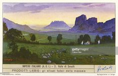 Senafe Valley, Ethiopia (part of the Italian Empire, 1930s). Liebig collectors' card 1937