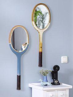 Upcycling: So machst du einen Spiegel aus einem Tennisschläger