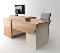 Working desk. MobiliART design studio Woodcraft DMD furniture factory