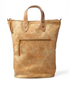 Golden Leather Tote Bag / Cross Body Bag / Travel Bag / Weekend Bag / Every Day Purse / Over Size Bag / Sac Bag / Printed Bag - Puma