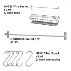 ikea bygel hack - Google Search