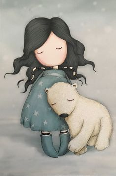 Watercolor Pictures, Watercolor Cards, Adorable Petite Fille, Baby Girl Dolls, Korean Art, Cute Cartoon Wallpapers, Cute Images, Cute Dolls, Cute Illustration