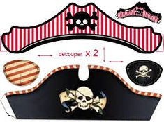 hat and eye patch - Pinned it & Did It for Steve's birthday party . Printed an eyepatch for everyone to wear - So much fun! Pirate Birthday, Pirate Theme, Pirate Invasion, Pirate Crafts, Party Fiesta, Pirate Life, Party Kit, Photo Booth Props, Halloween Kids