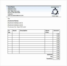 hotel bill format in word file Sample Resume Hotel Bill Format Excel - Templates Invoice Sample, Invoice Format, Invoice Template Word, Bill Template, Receipt Template, Templates Printable Free, Free Hotel, Hotel Logo, Hotel Services