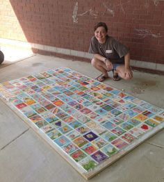 This is a fundraising tile mural we are making for Northport Elementary School. Almost finished. Collaborative Art Projects, School Art Projects, School Murals, Art School, School Spirit Days, Solar System Crafts, Legacy Projects, School Auction, School Fundraisers