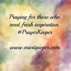 And a way to appy it. #PrayerKeeper