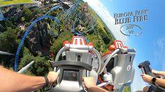 Europa Park Blue Fire (Coaster) 360° VR POV Onride Park, Coasters, Blue, Europe, Coaster, Parks