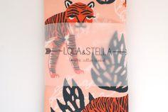 Biologische baby deken in tijger print organische door LolaandStella