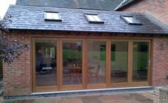 bi fold doors * 5 Garden Room Extensions, House Extensions, Kitchen Extensions, Open Space Living, Open Plan Living, Single Storey Extension, Kitchen Conversion, Bungalow Renovation, Cafe Style