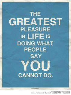Greatest pleasure indeed
