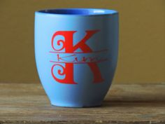 Personalized Monogramed Coffee cup with by ShopAroundTheCorner3, $9.00