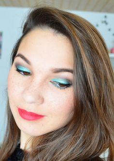 Make-up Inspiration: Vor einiger Zeit habe ich ein Augen-Make-up mit dem Pigment Gaiety von Fyrinnae geschminkt. Es ist ein wunderschönes hellblaues AMU geworden.