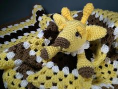 Adorable Giraffe Lovey Blankie for Baby, Perfect for Travel - Toy Wubby Security Blanket