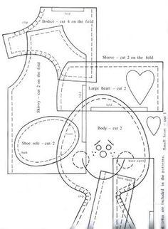 Casinha dos moldes: boneca de pano