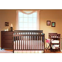 Sorelle Petite Paradise Nursery In A Box - Cherry $295.99 includes Crib w/ Toddler Rail, Dresser, Changing Table & Hamper