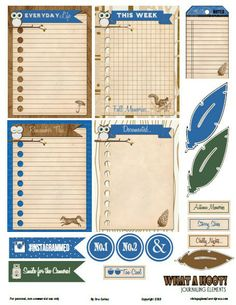 what-a-hoot journaling elements