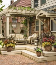 99 Deck Decorating Ideas Pergola, Lights And Cement Planters (63)
