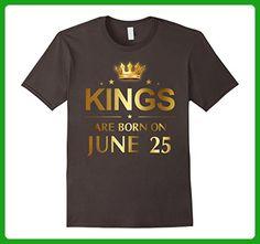 Mens Kings Are Born On June 25 - Birthday T-shirt Large Asphalt - Birthday shirts (*Amazon Partner-Link)