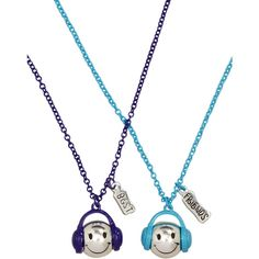 Bff Smiley Face Headphones Necklaces necklaces (17 AUD) ❤ liked on Polyvore featuring necklaces and jewelry