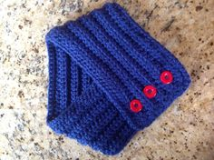 Crochet cowl scarf royal blue