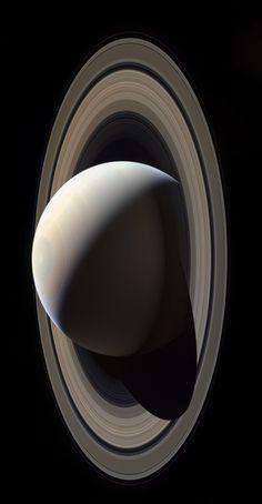 "Image of Saturn taken by Cassini spacecraft in October 28, 2016. Credit: NASA / JPL / Cassini """