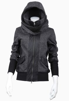 WOMEN :: OUTERWEAR :: VON SWEAT - NICHOLAS K Urban Street Fashion, Dark Fashion, Looks, Moda Fashion, Womens Fashion, Canada Goose, Assassins Creed, Post Apocalyptic Fashion, Sweater Jacket