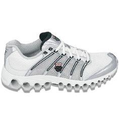 K-Swiss Tubes Run 100 Shoes (Wht/Silver/Black/Red) - Men's Shoes - 11.5 M