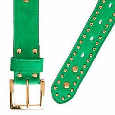 Cinturón Verde Esmeralda Enna Complementos Tachas de Enna Complementos