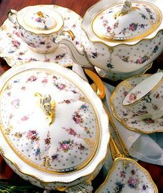 Royal Crown Derby Royal Antoinette - my all time favourie porcelain. Just exquisite and priced to match!