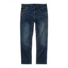 Pantalone in felpa, color indaco effetto denim, 5 tasche. Vita regolabile all'interno.4BAY576A0 DENIM